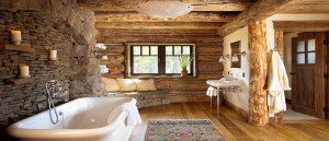 relaxing-retreat-on-the-master-bathroom-with-rustic-wood-interior-and-rough-stone-wall-also-white-freestanding-tub-e1447782656787