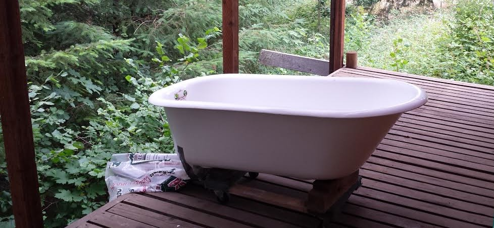 outdoor claw foor tub vintage restore