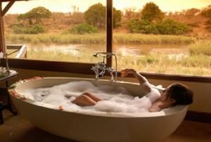 soak in white tub