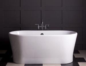 black and white bath tub