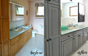 Bathroom Before and After Resurface Paint
