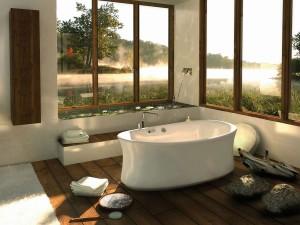 spa bath room remodel