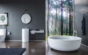 rustic white tub